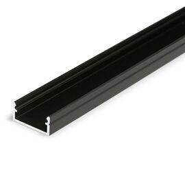 Черен анодизиран LED профил за открит монтаж BEGTON12 J/S 2000 | Osvetlenieto.bg