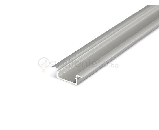 Анодизиран LED профил за вграждане BEGTIN12 J/S 2000 | Osvetlenieto.bg