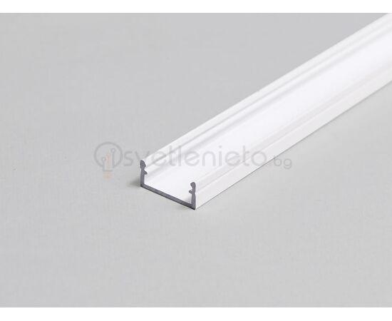 Бял LED профил BEGTON12 J/S 2000 за открит монтаж   Osvetlenieto.bg