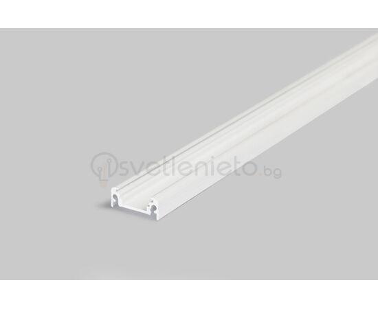 Бял LED профил SURFACE10 BC/UX 2000 за открит монтаж   Osvetlenieto.bg