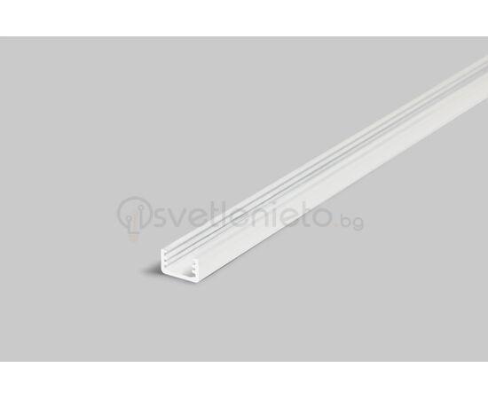 Бял LED профил за открит монтаж SLIM8 A/Z 2000   Osvetlenieto.bg