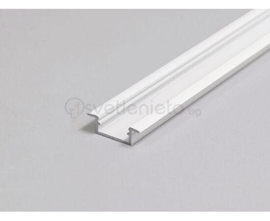 Бял LED профил за вграждане BEGTIN12 J/S 2000 | Osvetlenieto.bg