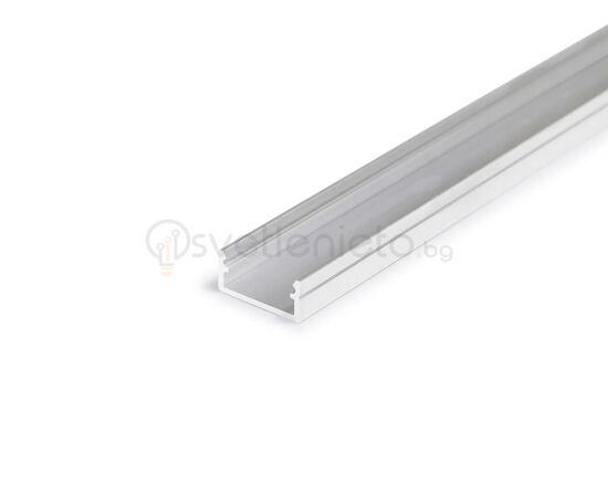 LED профил за открит монтаж суров алуминий BEGTON12 J/S 2000 | Osvetlenieto.bg