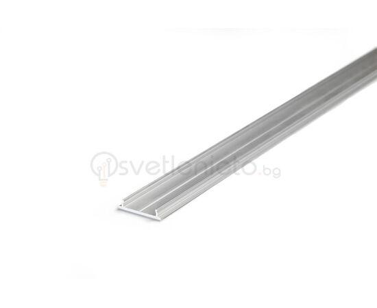 LED профил за открит монтаж суров алуминий FIX12 2000   Osvetlenieto.bg