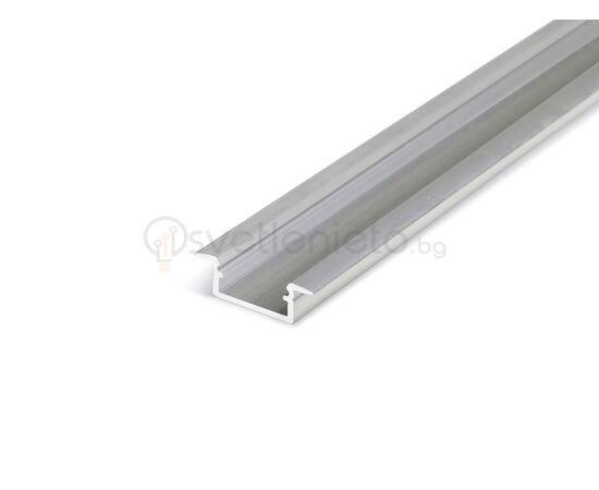 LED профил за вграждане суров алуминий BEGTIN12 J/S 2000 | Osvetlenieto.bg